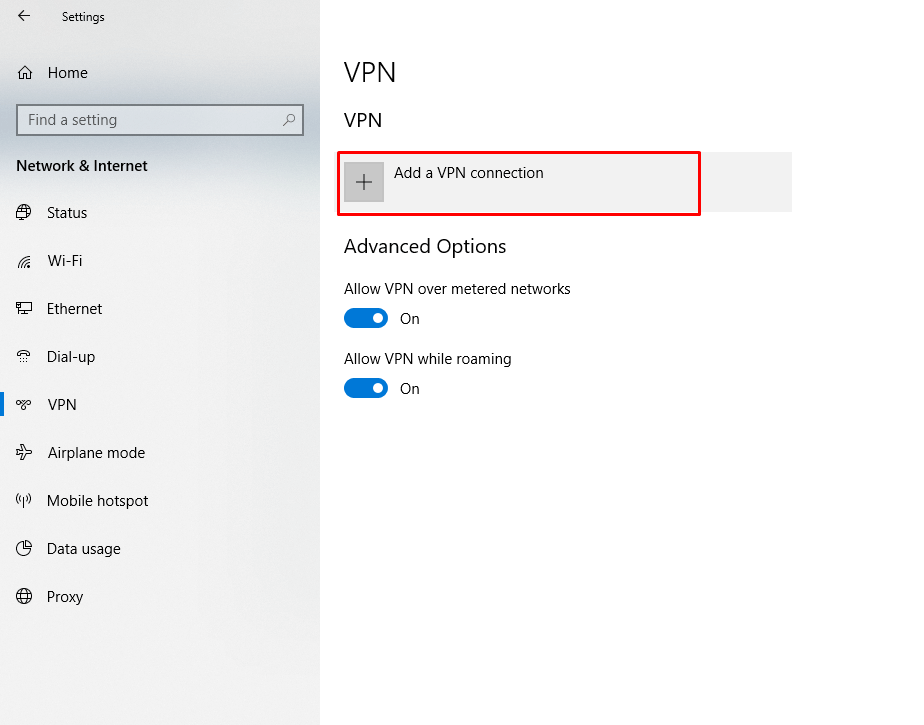 Setting up L2TP VPN on Android | Apps screen