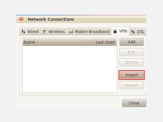 Make VPN connection on Linux OpenVPN | Network Connections screenshot