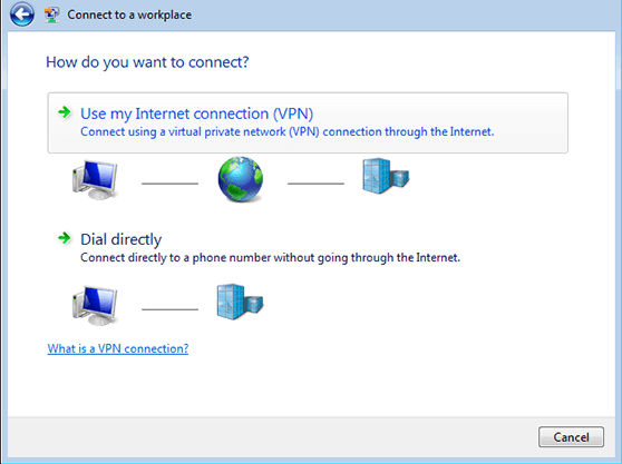 how to connect to domain network in windows 7