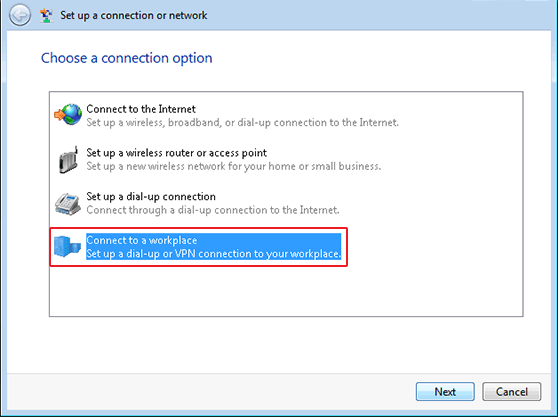 Windows 8 SSTP VPN Setup in Connection or Network Window