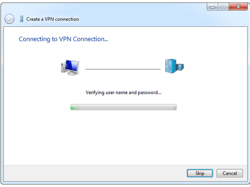 connecting to vpn