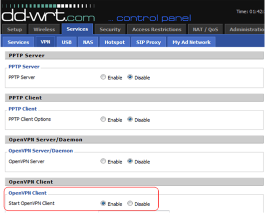 DD WRT routers OpenVPN Setup Instructions