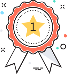 First prize badge icon